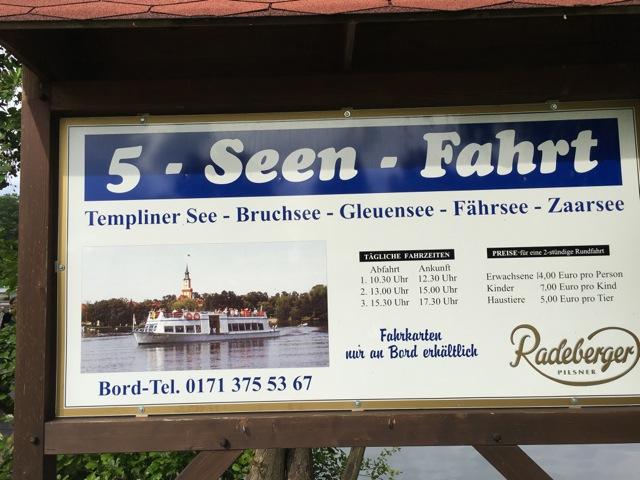 5 Seen Fahrt in Templin