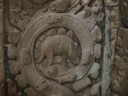 Dinosaurier Relief im Ta Prohm Tempel