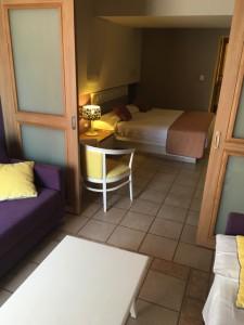 Familienzimmer im Hotel Porto Angeli in der Stegna Bay auf Rhodos