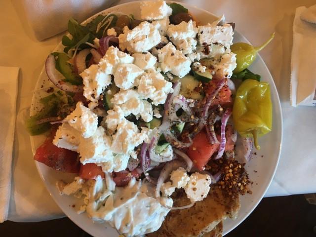 Griechischer Salat im Restaurant Hotel Porto Angeli Stegna-Bay Rhodos