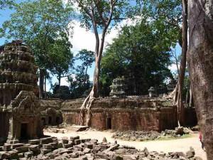 Innenhof im Ta Prohm Tempel