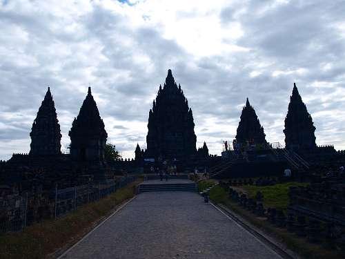 Tempel von Prambanan auf Yogyakarta in Indonesien