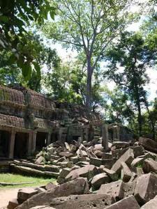 Ruinen im Ta Prohm Tempel