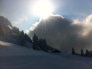 Sonne und Schatten in den Bergen