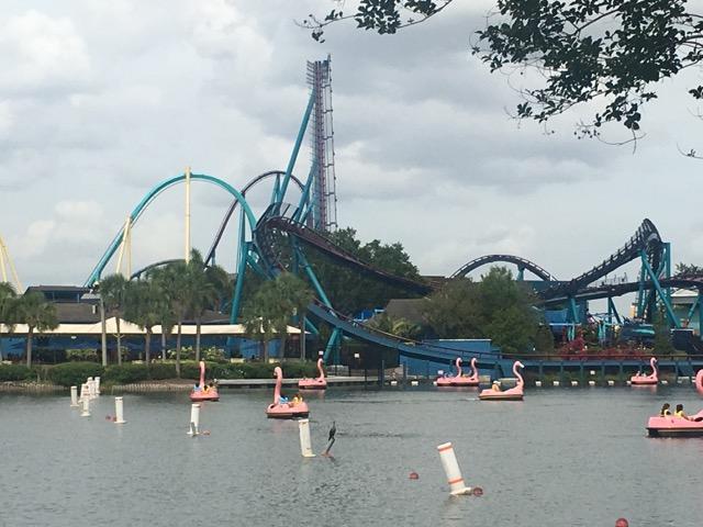 Achterbahn im Seaworld Orlando