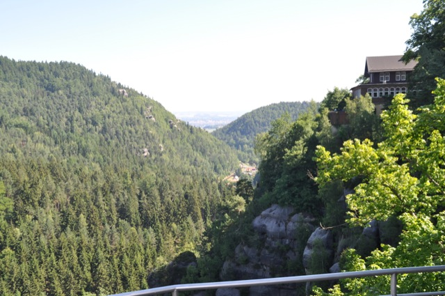 Aussicht von der Burg und Kloster in Oybin