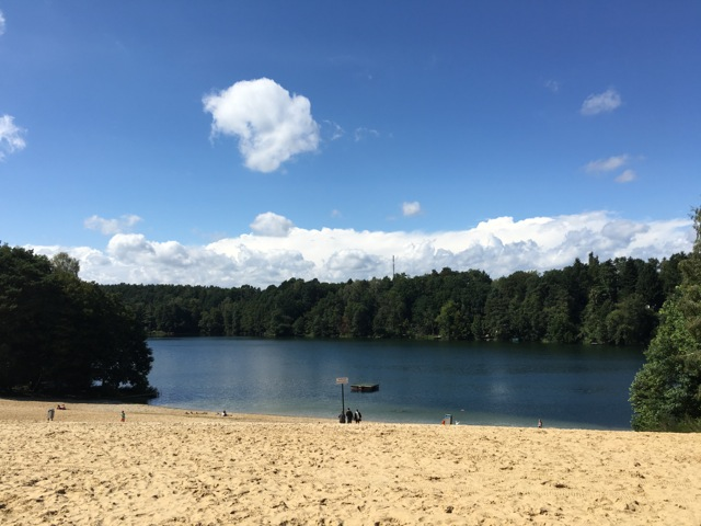 Badestelle und Strand am Campingplatz Üdersee bei Finowfurt