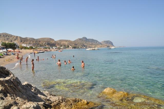 Beach Stegna bay  - Strand Stegna Bucht auf Rhodos