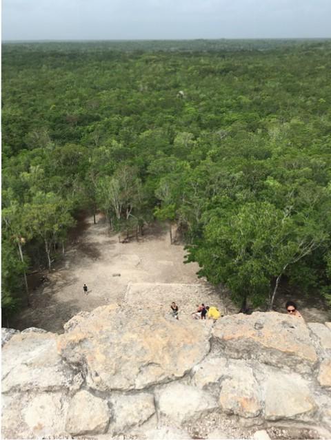 Coba-Ruine - Ausblick von oben