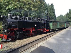 Dampflokomotive zwischen Oberwiesenthal und Cranzahl