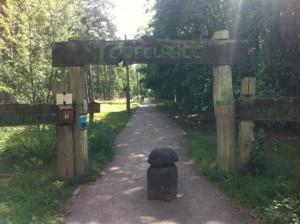 Wanderweg-Eingang: Rundweg um den Teufelssee in den Müggelbergen