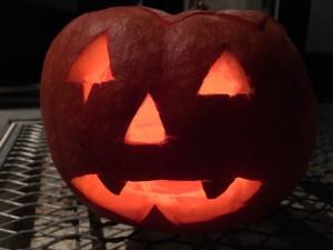 Gruseliges Gesicht - Halloween Kürbis