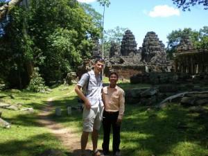 Ich mit unserem Guide in Banda Srdei