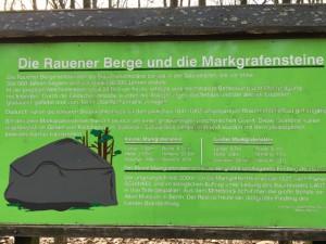 Infotafel rund um die Rauener Berge und Markgrafensteine