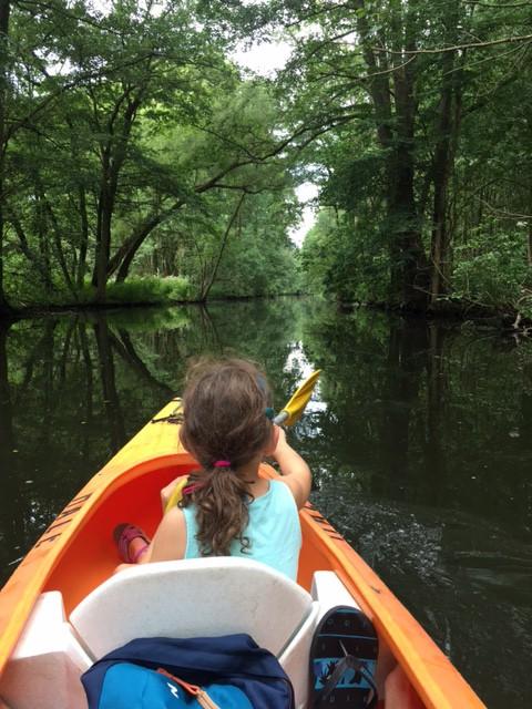 Kajak fahren mit Kinder im Spreewald
