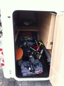 Kofferraum im Wohnmobil