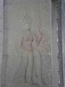 Lächelnde Apsarat in Angkor Wat