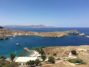 Bucht von Lindos auf Rhodos