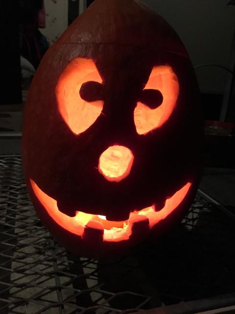 Lustiges Gesicht - Halloween Kürbis