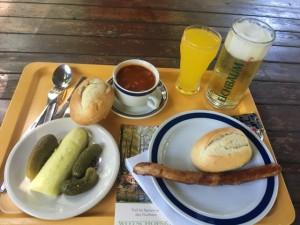 Mittagspause in der Spreewaldgaststätte Wotschofska