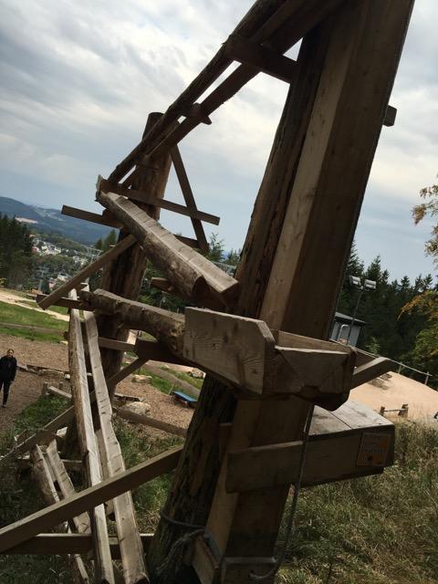 Murbelbahn aus Holz in Wurzelrudis Erlebniswelt