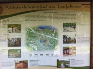 Naturerlebsnispfad Teufelssee - Karte für den Rundweg