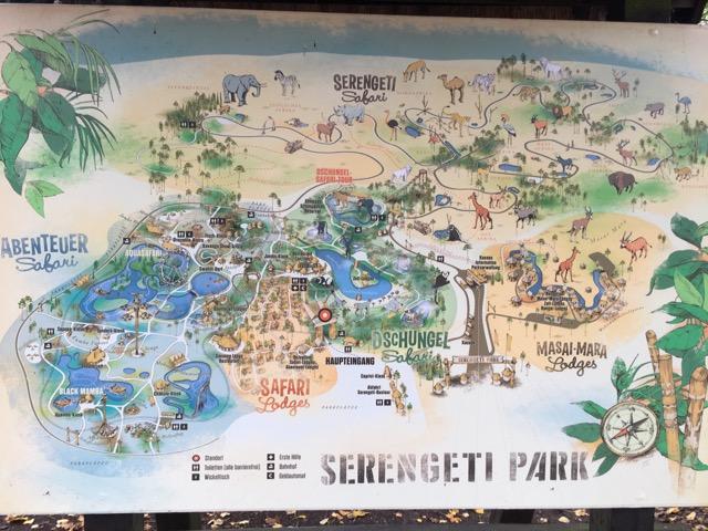Parkplan - Karte vom Serengeti-Park Hodenhagen