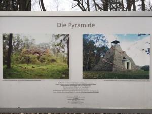 Pyramide Garzau - früher - heute