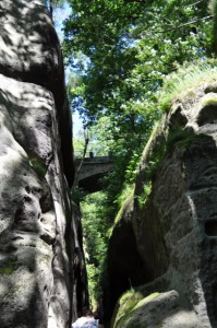 Ritterschlucht - Weg zur Burg und Koster Oybin