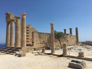 Ruinen von Lindos auf Rhodos