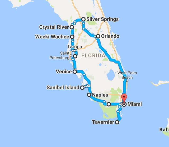 Rundreise Florida - Reiseroute mit Kind