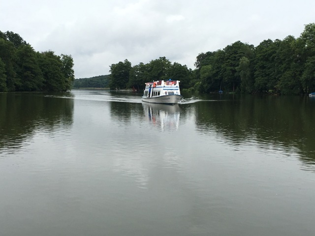 Schiff fahren in Templin