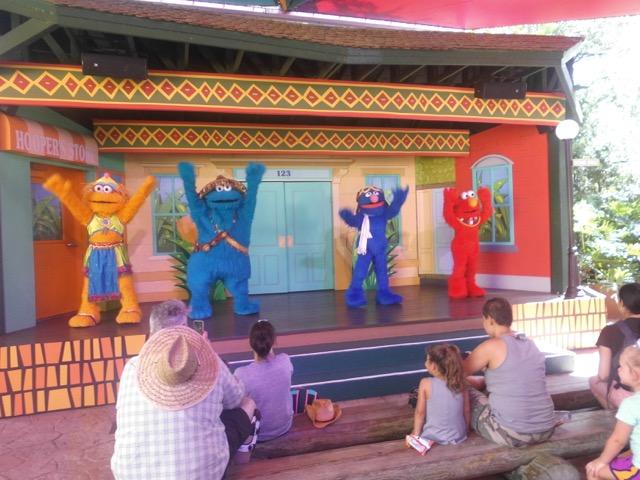 Show und Tanz der Sesamstrasse Busch Garden Tampa