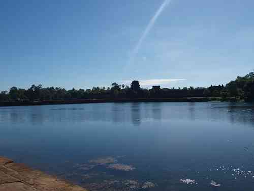 Wassergraben und Urmeer von Angkor Wat