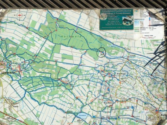 Wasserwandern - Unsere Karte für die Kanu / Kajak-Tour im Spreewald im Hochwald