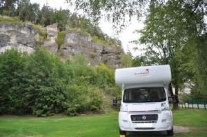Wohnmobil Campingplatz auf der Rückreise